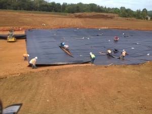 Comanco completes decorative pond liner project in for Ornamental pond liners