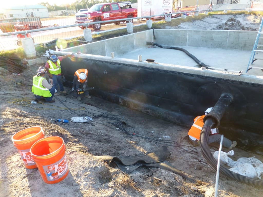Concrete Containment Systems : Comanco finishes jet fuel containment project at jia