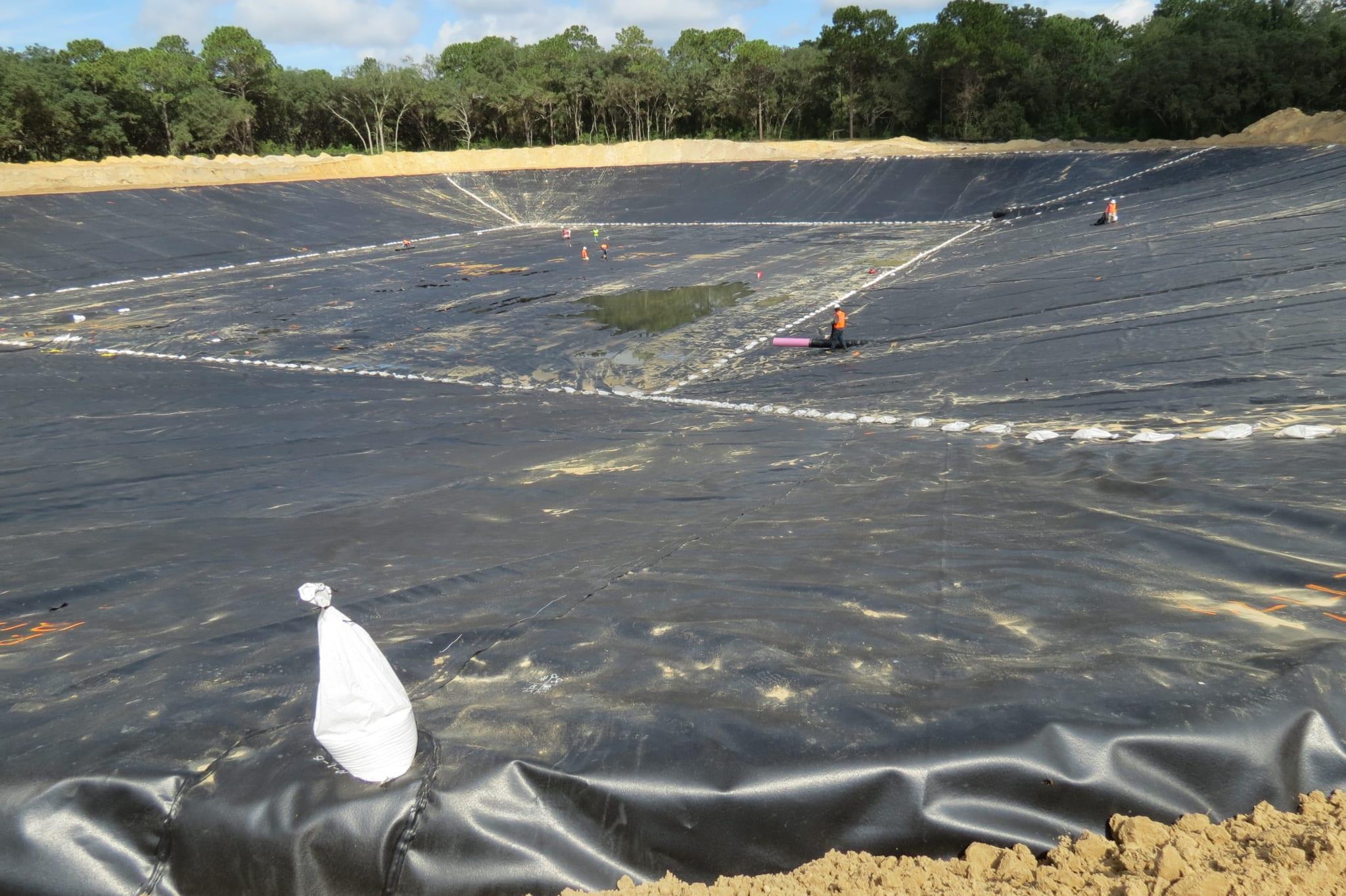 Recreation Pond Liner Installation Comanco Environmental Corporation