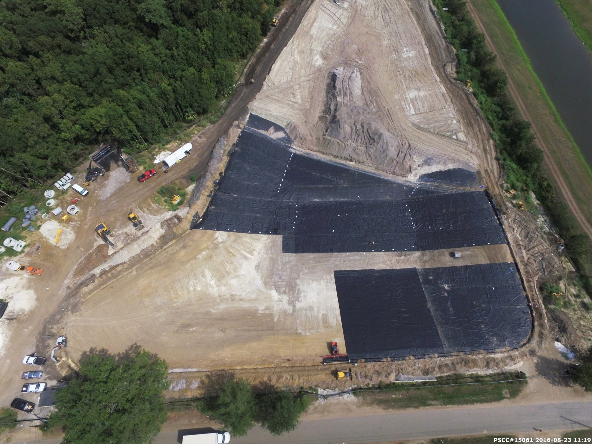 Comanco completes fdot pond liner installation in north for Pond liner installation