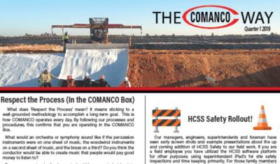 Newsletter - Q1 2019 - COMANCO